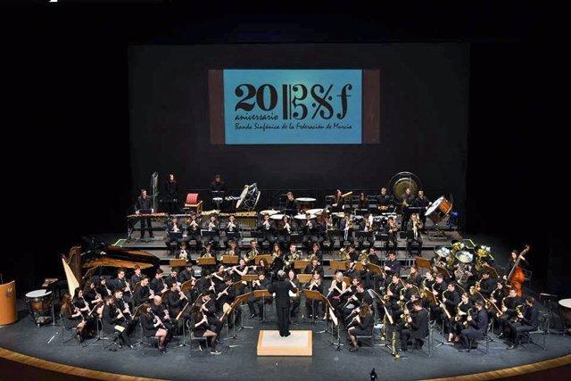 La Banda Sinfónica de la Federación de Bandas de la Región
