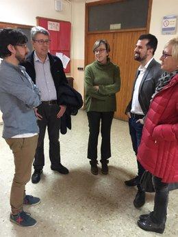 Valladolid.- Tudanca hoy en el colegio Antonio Allúe Morer