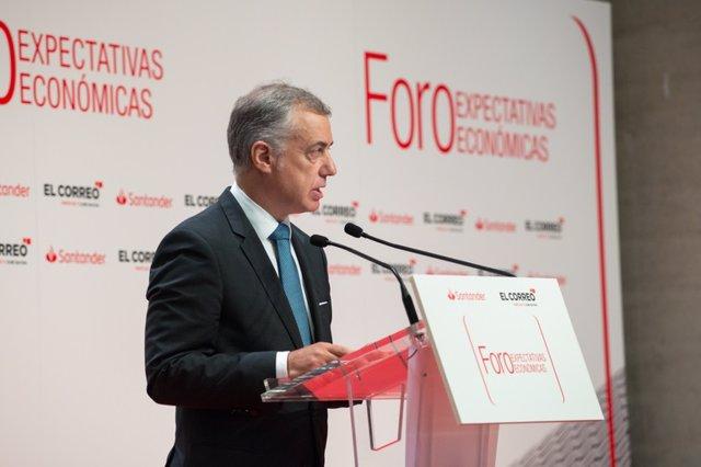 Iñigo Urkullu en el Foro Expectativas Económicas