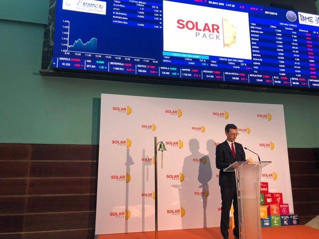 Toque de campana en Bolsa de Solarpack