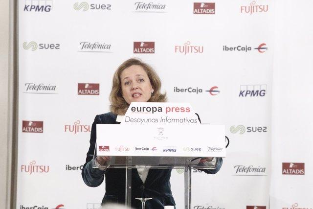 Nadia Calviño participa en els Esmorzars Informatius d'Europa Press