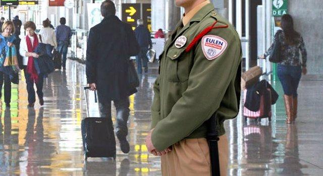 Vigilante de seguridad de Eulen