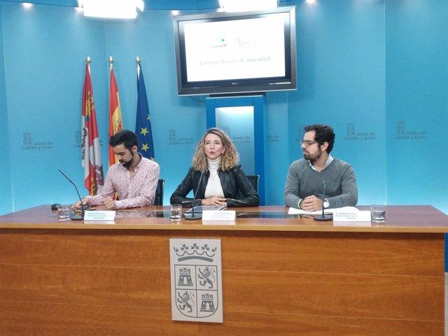 Víctor Núñez, Alicia García y Eduardo Carazo