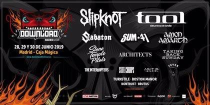 Sum 41, Sabaton y Stone Temple Pilots, al Download Festival Madrid 2019