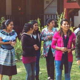 Jóvenes de Chiapas (México) que participan en 'Pauta'