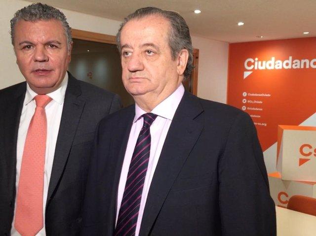 Belarmino Feito y Nicanor García en la sede de Ciudadanos