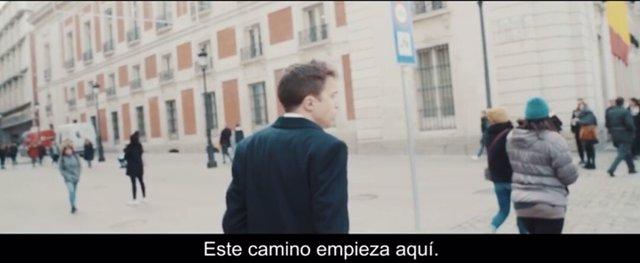 Una imagen del vídeo de Errejón