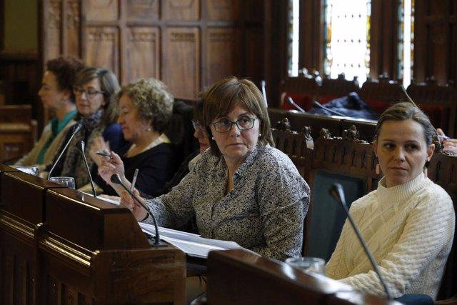 La consejera Pilar Varela comparece en la Junta sobre Presupuestos