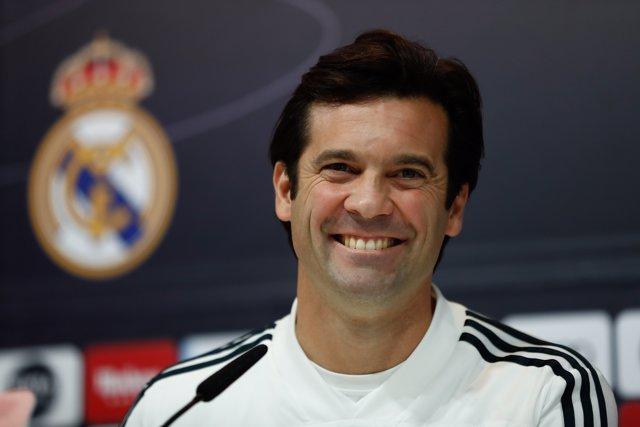 Rueda de prensa del entrenador del Real Madrid, Santiago Solari, antes del parti