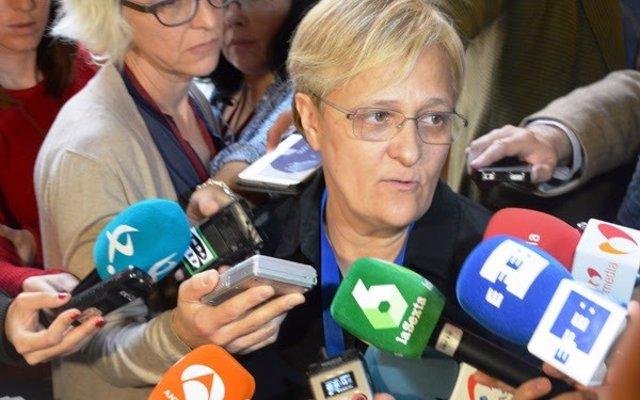 La diputada del PSOE portavoz de Igualdad Ángeles Álvarez Congreso