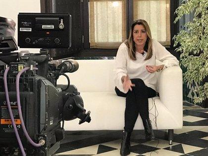 """Susana Díaz pide a Rivera aclarar si el cambio que quiere es con Vox porque su apoyo es """"inevitablemente necesario"""""""