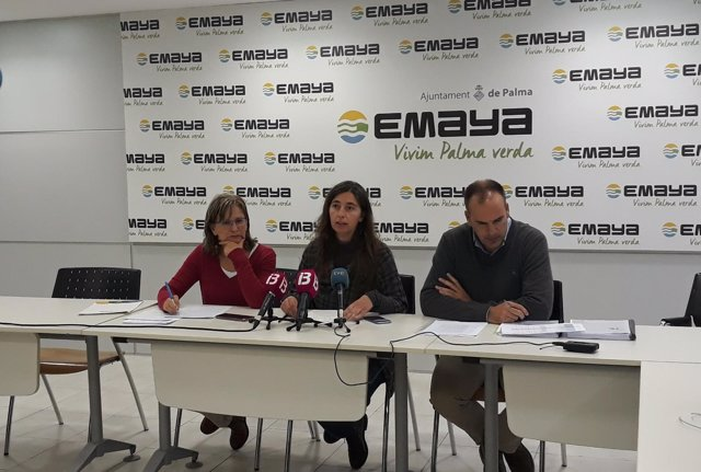 La presidenta de Emaya, Neus Truyol, informa sobre las falsificaciones