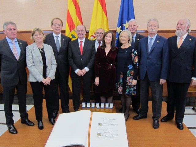 Acto del 40 aniversario de Constitución en la Delegación del Gobierno en Aragón