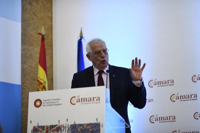 Josep Borrell pronuncia una conferencia sobre el Brexit