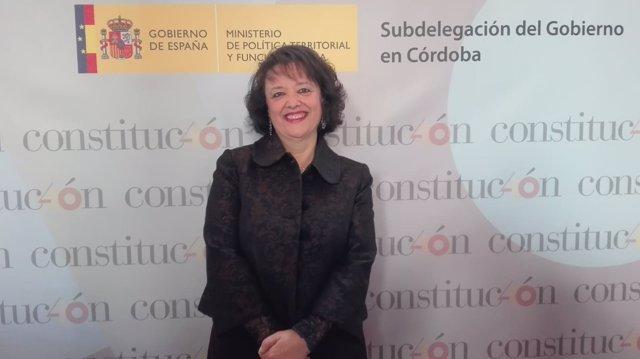 La subdelegada del Gobierno en Córdoba, Rafaela Valenzuela