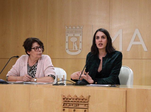 Las concejales de Madrid Rita Maestre e Inés Sabanés