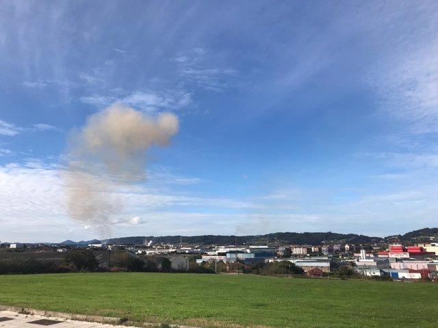 Nube de contaminación
