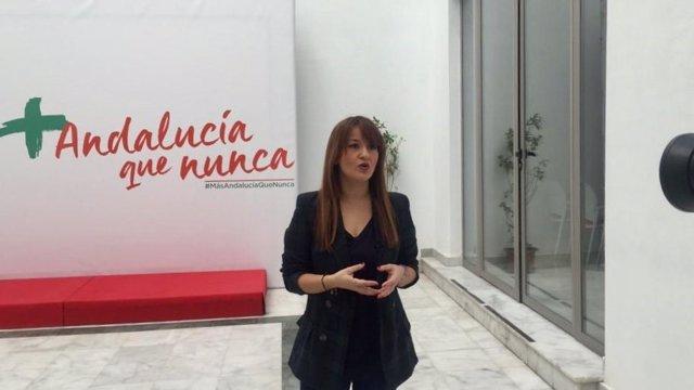 La secretaria general del PSOE de Sevilla, Verónica Pérez