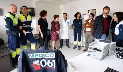 Real visita el nuevo SUAP y sede del 061 en el centro de salud de Los Castros