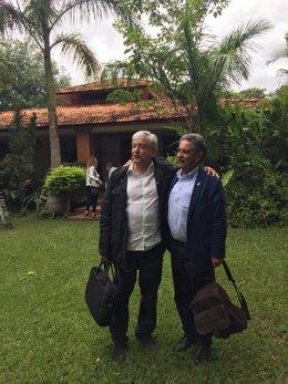 Miguel Ángel Revilla y Andrés Manuel López Obrador