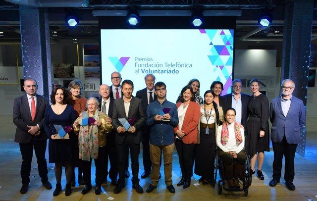 Fundación Telefónica entrega los premios a las cinco mejores iniciativas de volu
