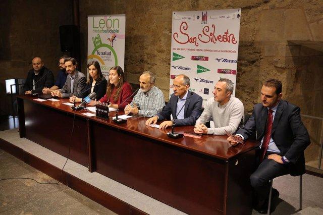 Presentación en León de la San Silvestre 5-12-2018