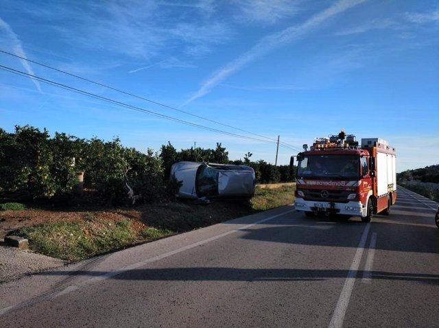 Imagen de archivo de un accidente de tráfico