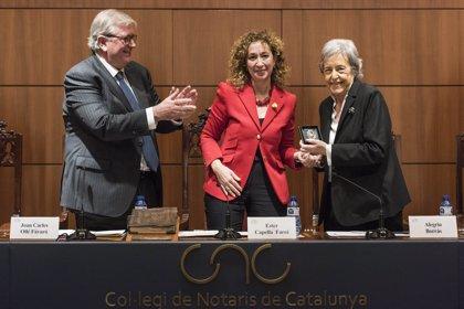 Els notaris catalans distingeixen la jurista Alegría Borrás amb el Puig Salellas 2018