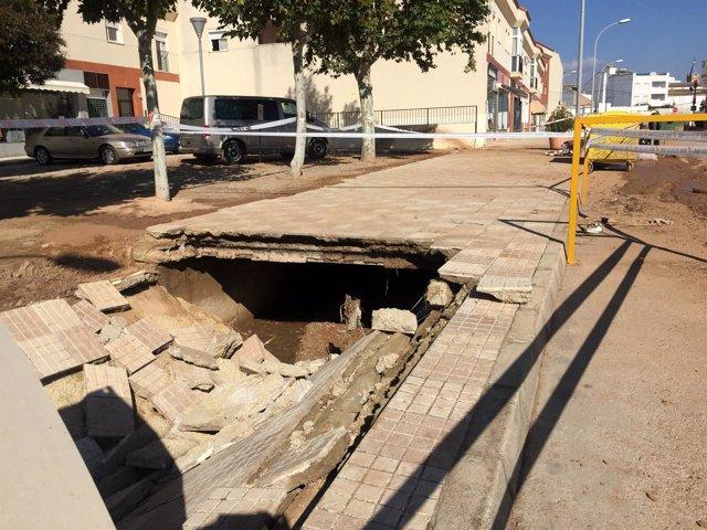 Ayuntamiento de campillos daños inundaciones riadas octubre 2018 ayudas acera