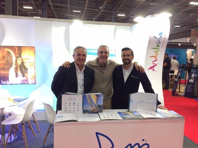 Representantes de Marinas de Andalucía en el Salón Náutico de París de 2017