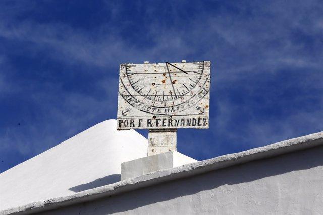 Reloj de San Roque, reloj de sol de Tinajo