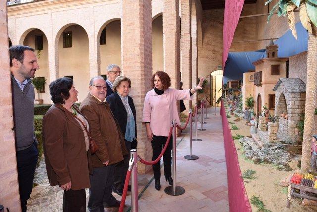 El Palacio de los Marqueses de la Algaba acoge el Belén mudéjar.