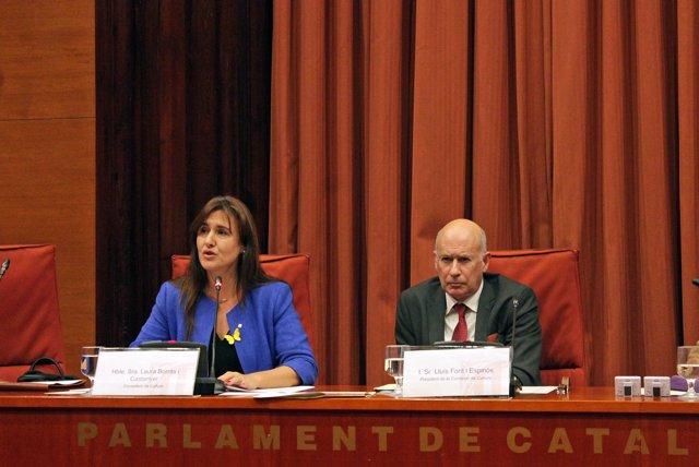 La consellera de Cultura, Laura Borràs