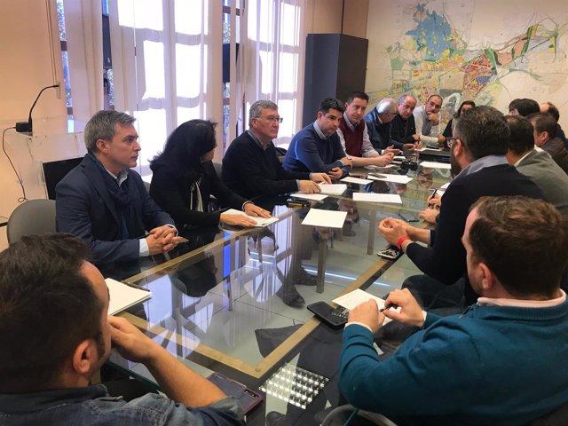 Un momento de la reunión en la GMU