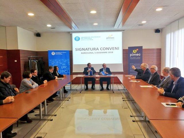 Firma del convenio entre la UPC y Pimec