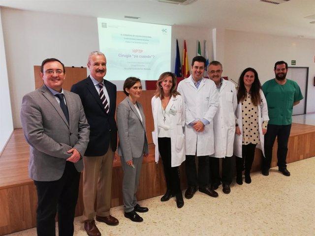 Profesionales médicos participantes en la jornada.