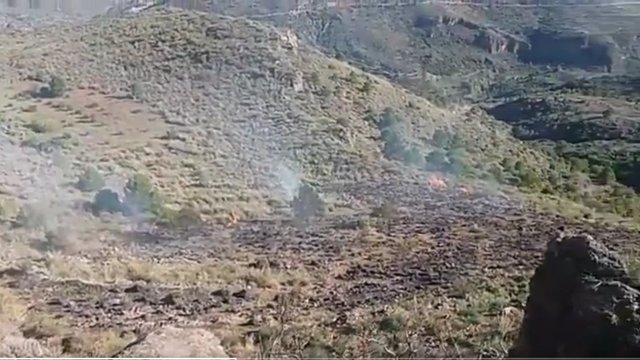 Incendio en Felix (Almería)