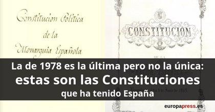 La de 1978 es la última pero no la única: estas son todas las Constituciones que ha tenido España