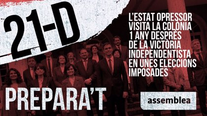 L'ANC prepara diverses protestes contra el Consell de Ministres del 21 de desembre a Barcelona