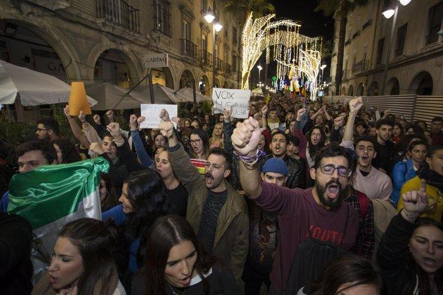 Manifestación contra Vox en Huelva