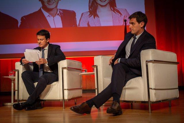Rivera, Arrimadas, y Valls participan en el acto 40 años de constitucionalismo