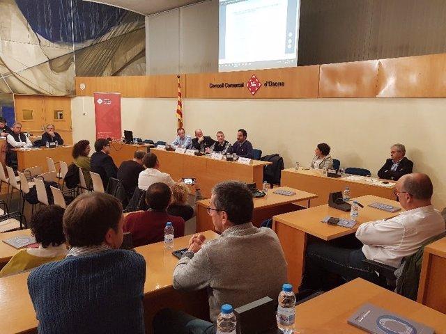 El presidente de la ACM, David Saldoni, en el Consell de Alcaldes de Osona