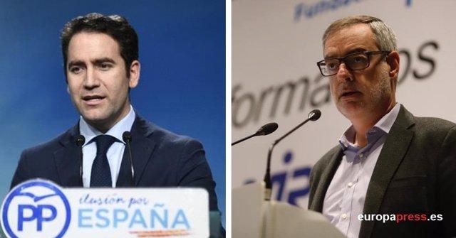 Teodoro García Egea y José Manuel Villegas