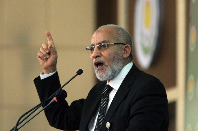 El guía supremo de los Hermanos Musulmanes, Mohamed Badie