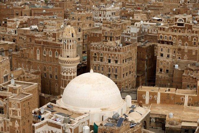 Vista panorámica de la ciudad vieja de Saná