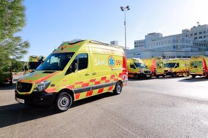 Un hombre de 51 años, ingresado en Ibiza por inhalación de humo y quemaduras