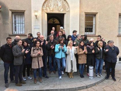 Diputats de JxCat, ERC i la CUP arriben als Caputxins de Sarrià per dejunar pels presos