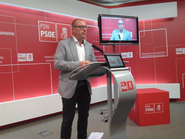 El parlamentario del PSN, Carlos Gimeno