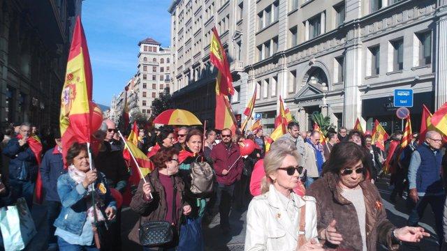 Manifestación por los 40 años de la Constitución