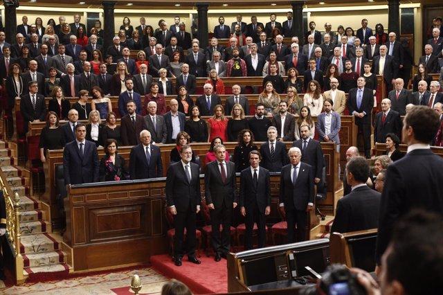 Foto del Congreso de los Diputados en el 40 Aniversario de la Constitución